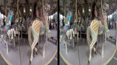 3d carousel ride Stock Footage