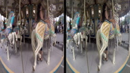 Stock Video Footage of 3d carousel ride