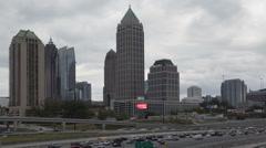 Time lapse zoom out Atlanta skyline Arkistovideo