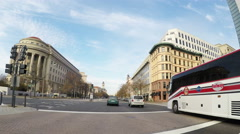 4k driving downtown Washington DC with little traffic Stock Footage
