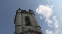 Lviv architecture, the Armenian Church Stock Footage