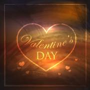 Abstract holiday background with hearts and grunge texture. Valentines day Stock Illustration