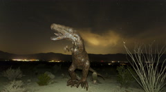 4K Time lapse of dinosaur with stars Stock Footage