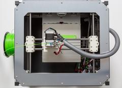 3d printing with light green filament Stock Photos