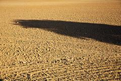 fresh plowghed acres in beautiful light - stock photo