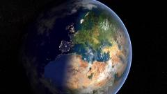 Earth at night and day  in 022 (Europe) Stock Footage