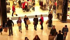 Time lapse crowd of people shopping during christmas sales - stock footage