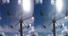 3d hurrican carnival ride Stock Footage