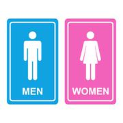 Male and female WC icon - stock illustration