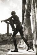 apollo god, pompeii - stock photo