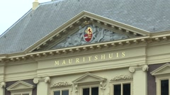 The Mauritshuis in The Hague, South Holland, Netherlands. Stock Footage
