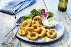 calamaretti fritti meal - stock photo