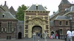 The Ridderzaal Gate entrance to the Binnenhof, the Hague, Netherlands. Stock Footage