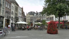 General view of life on Buitenhof, in The Hague, South Holland, Netherlands. Stock Footage