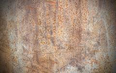Close up of rusty metallic surface Stock Photos