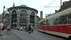 City centre tram (with audio), The Hague, South Holland, Netherlands. Stock Footage