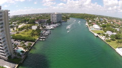 Waterways near Boca Raton, Florida aerial Stock Footage