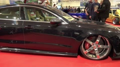 4k Motorshow automobile dreams and concept cars panning Stock Footage