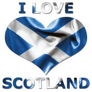 I love scotland heart flag Stock Illustration