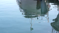 Ship reflection in water Stock Footage