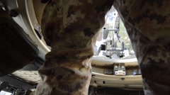 ISAF soldier rifleman gunner MG - stock footage