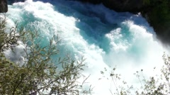 Rough waters of Huka Falls Stock Footage