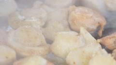 Roasting seafood Stock Footage
