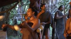 Maori traditional dance - Haka Stock Footage