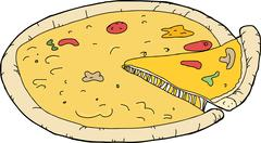 slice from pizza - stock illustration