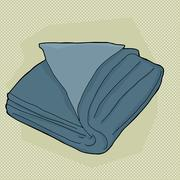 Blue folded towel Stock Illustration