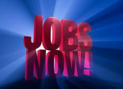 jobs now! - stock illustration