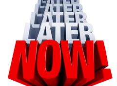 stop procrastinating - stock illustration