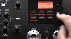 Operation of digital multitrack audio recorder Stock Footage
