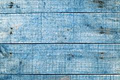 aqua blue wooden planks of timber - stock photo