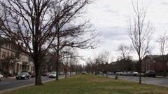Median Monument Avenue - stock footage