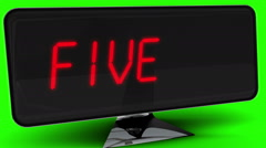 Countdown to 2015 on computer screen on green background Stock Footage