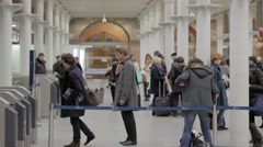 Eurostar Railway Ticket Hall, London Stock Footage