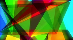 Abstraction pattern of geometric shapes. colorful-mosaic banner.  stop motion Stock Footage