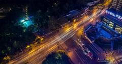 Shanghai City Traffic Time Lapse 4K Stock Footage
