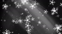 Snowflakes and Stars Background 3 matte - stock footage