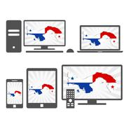 Electronic devices with the map of panama Stock Illustration