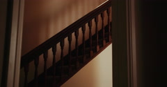 Dolly shot of Stairs, Stairwell, Staircase, Hallway Stock Footage