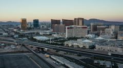 Las Vegas Skyline Panning Time Lapse - stock footage
