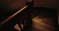 Dolly / Tilt / Pan shot of Stairs, Stairwell, Staircase, Hallway Stock Footage