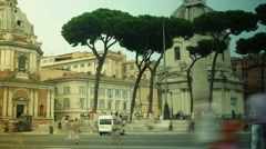 Via dei Fori Imperiali street in Rome, time lapse Stock Footage