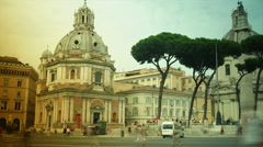 Via dei Fori Imperiali street in Rome, time lapse Stock Footage