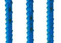 Blue reinforcement bars Stock Photos