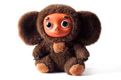 russian toy cheburashka - stock photo