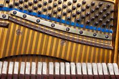old inside element piano - stock photo