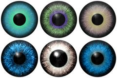 Stock Illustration of set of eye iris generated textures